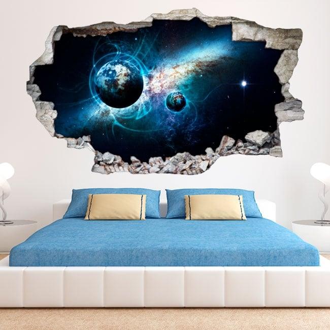 Vinilos decorativos y pegatinas 3d galaxia