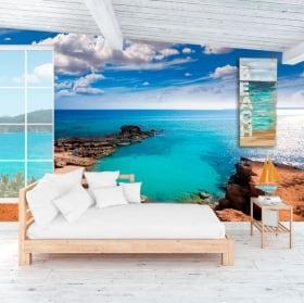 Fotomurales playa es caló formentera islas canarias