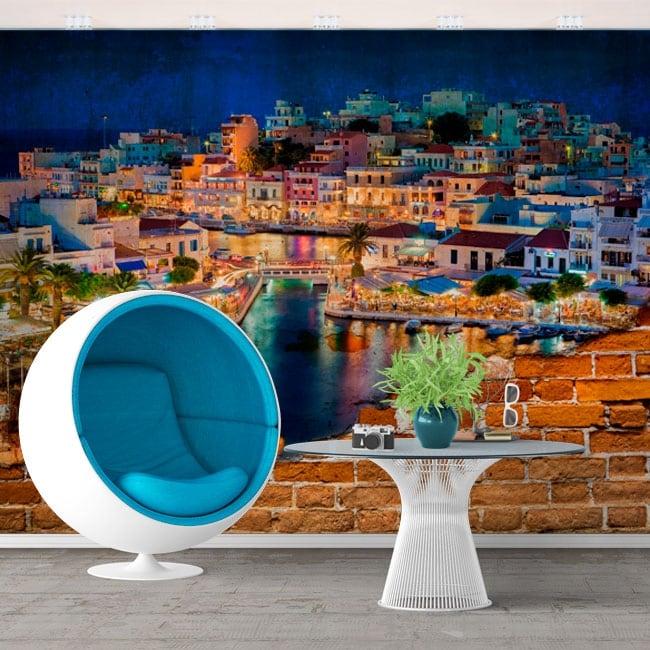 Murales grecia ágios nikolaos isla de creta efecto pared rota