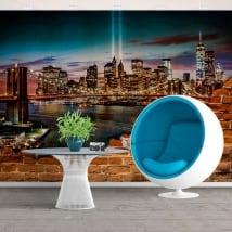 Fotomurales de nueva york efecto pared rota