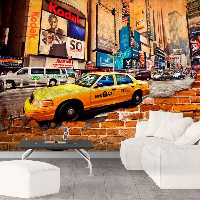 Fotomurales ciudad de nueva york efecto pared rota