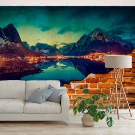 Fotomurales reine islas noruega efecto pared rota