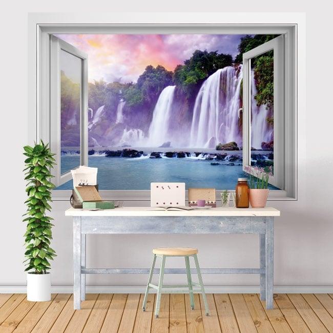Vinilos ventanas cataratas ban gioc detian 3d
