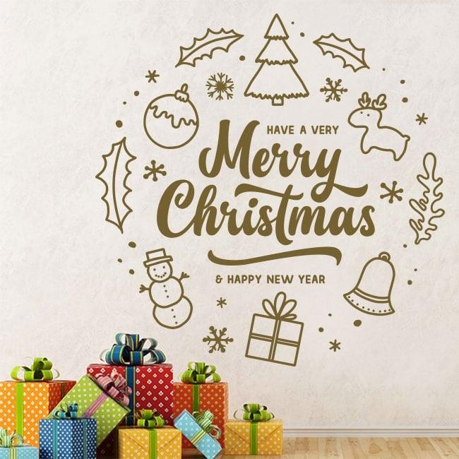 Vinilos para decorar en navidad