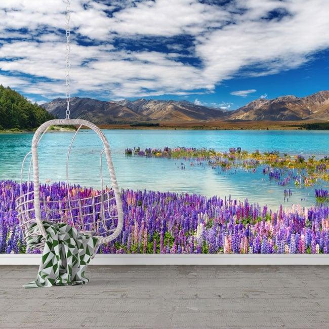 Murales de vinilos lago tékapo nueva zelanda