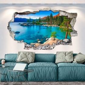 Vinilos paredes sand harbor lago tahoe sierra nevada 3d