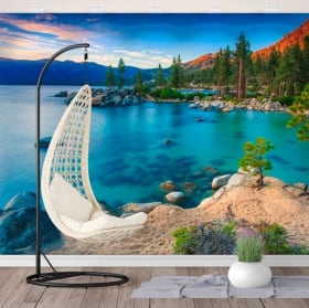 Murales de vinilos sand harbor lago tahoe sierra nevada