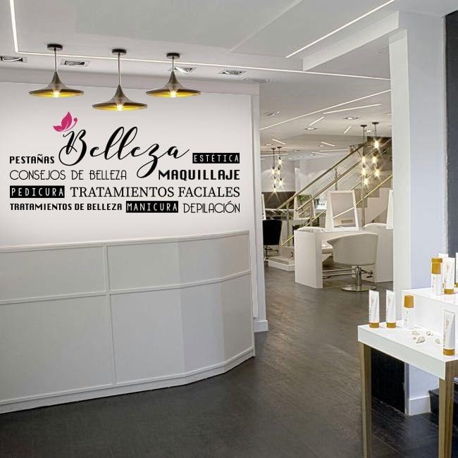 Vinilos para decorar salones de belleza