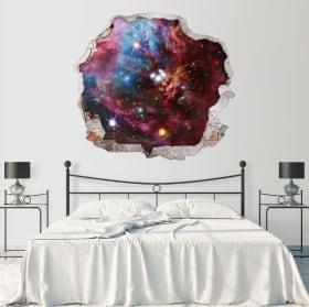 Vinilos decorativos paredes nebulosa espacio 3d