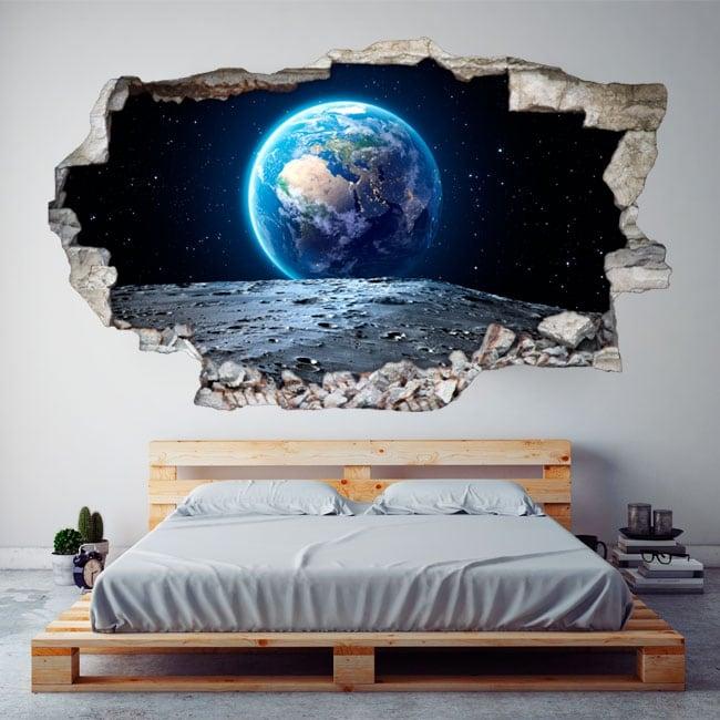 Vinilos decorativos planeta tierra 3d
