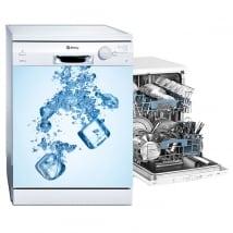 Vinilos para lavavajillas cubos de hielo
