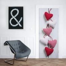 Vinilos para puertas y armarios corazones