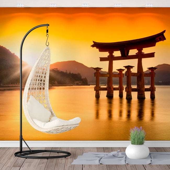 Fotomurales japón torii flotante santuario itsukushima