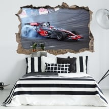 Vinilos decorativos fórmula 1 jenson button 3d