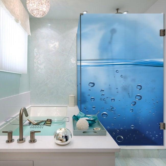 Vinilos mamparas del baño burbujas en el agua