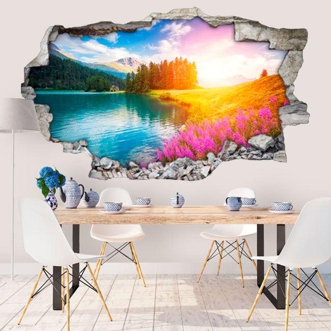 Vinilos decorativos lago champfèr suiza 3d