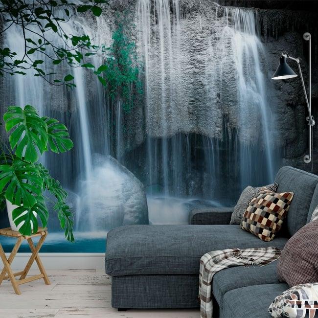 Fotomurales de vinilos cascadas erawan tailandia