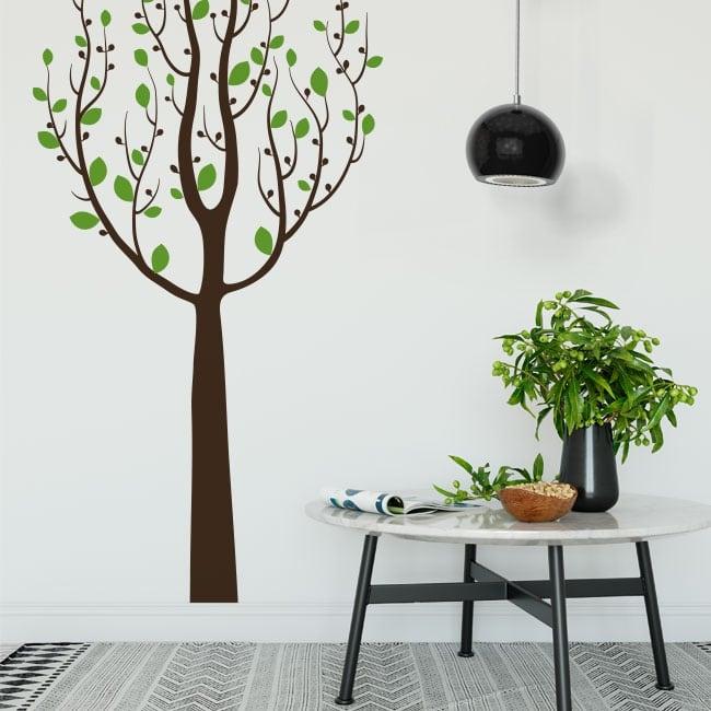 Pegatinas de vinilos árbol con hojas