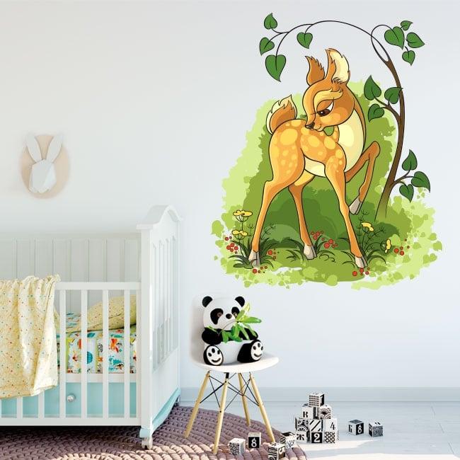 Vinilos decorativos infantiles bambi