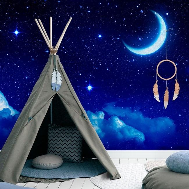 Fotomurales de vinilos luna y estrellas