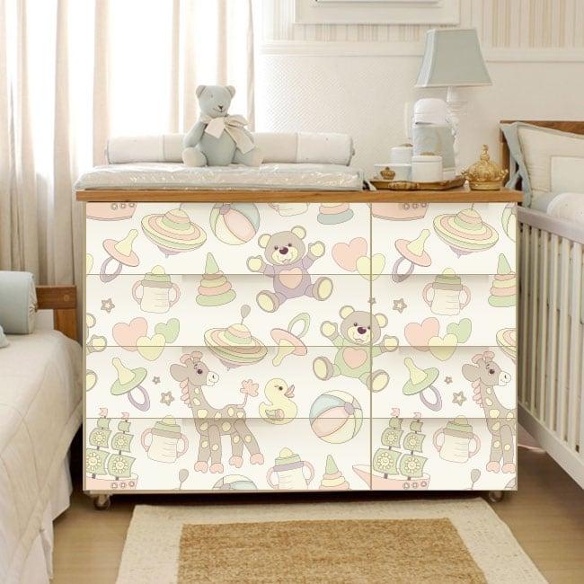 Vinilos decorativos para cómodas y muebles de bebé