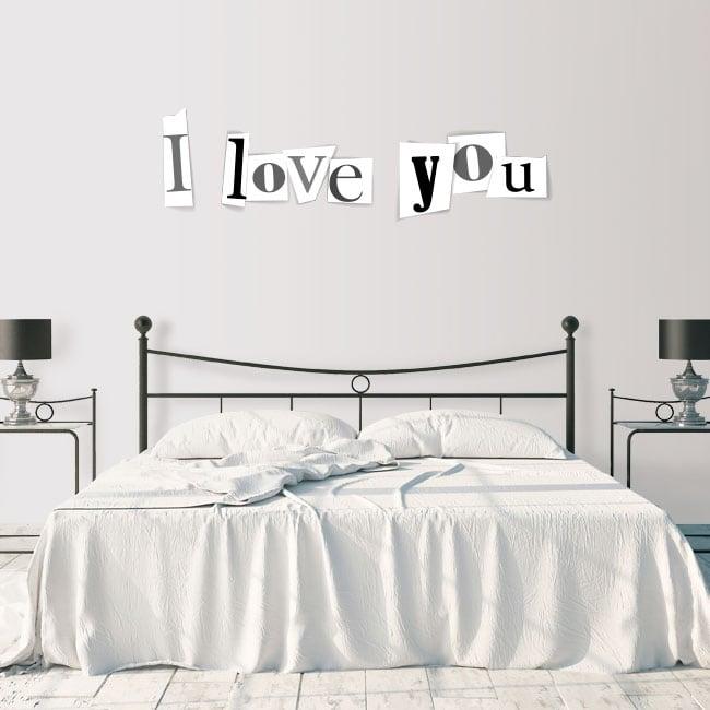 Vinilos decorativos y pegatinas i love you