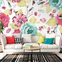 Fotomurales vinilos con flores para decorar