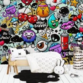 Fotomurales de vinilos grafiti juvenil