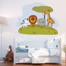 Vinilos decorativos animales infantiles zoo