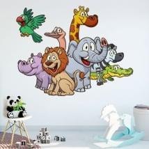 Vinilos decorativos y pegatinas animales infantiles
