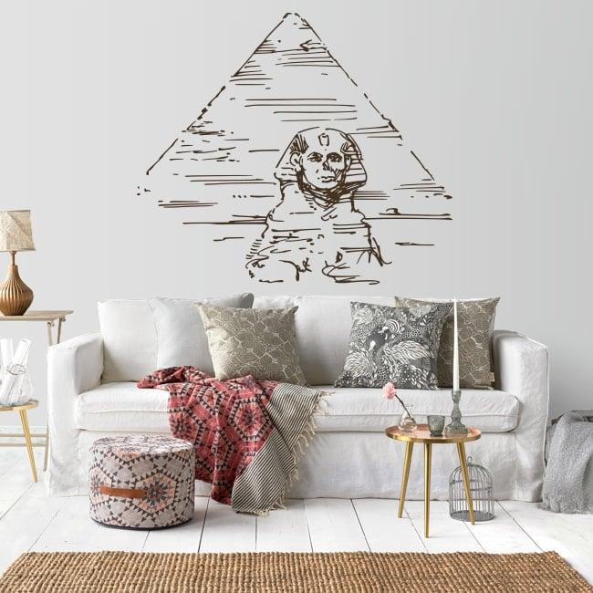 Vinilos decorativos pirámides y gran esfinge de guiza