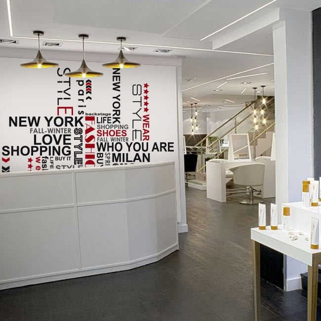 Vinilos decorativos frases para tiendas y comercios