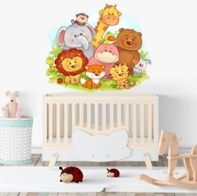 Vinilos para bebé animales infantiles