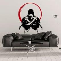 Vinilos decorativos y pegatinas silueta ninja