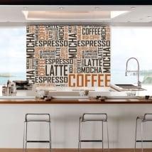 Vinilos decorativos y pegatinas café textos