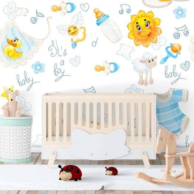 Fotomurales de vinilos para habitaciones de bebé
