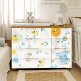 Vinilos adhesivos para cómodas y muebles de bebé