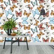 Fotomurales de vinilos con mariposas