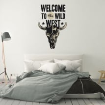 Vinilos decorativos y pegatinas welcome to the wild west