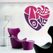 Pegatinas y vinilos decorativos corazón true love