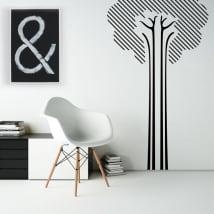 Vinilos decorativos y pegatinas árbol de líneas