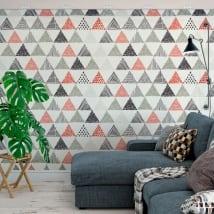 Fotomurales de vinilos triángulos decoración nórdica