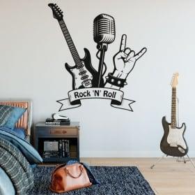 Vinilos decorativos y pegatinas rock and roll