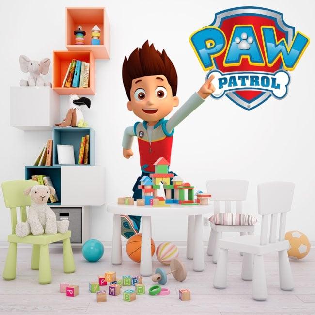 Vinilos decorativos y pegatinas paw patrol logo