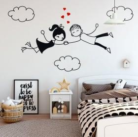 Vinilos decorativos y pegatinas amor en las nubes