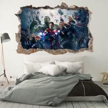 Vinilos de pared los vengadores 3d