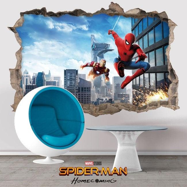 Vinilos y pegatinas spiderman homecoming 3d