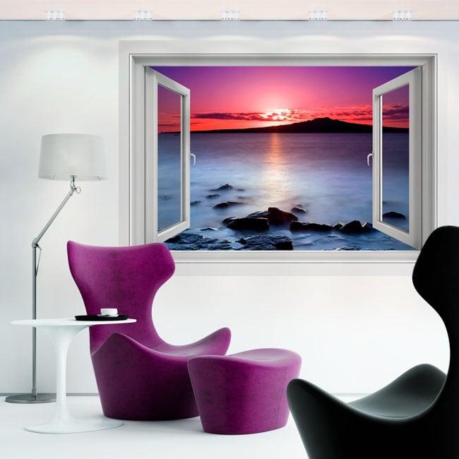 Vinilos decorativos colores del amanecer 3d