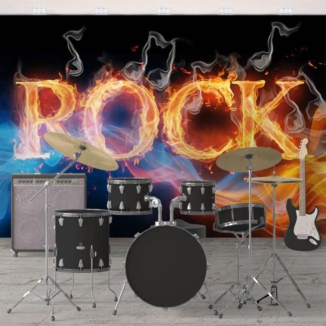 Fotomurales de vinilos rock and roll