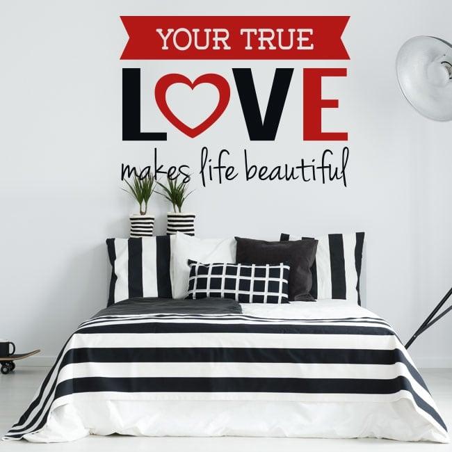 Vinilos paredes frase romántica true love